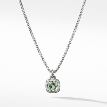 Albion® Pendant with Prasiolite and Diamonds