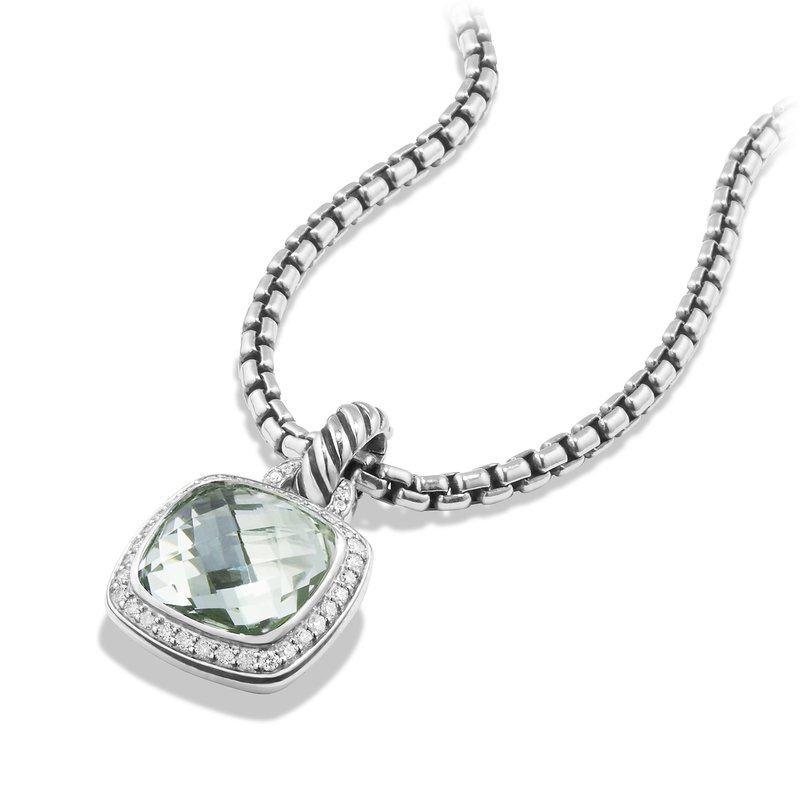 David Yurman Albion® Pendant with Prasiolite and Diamonds