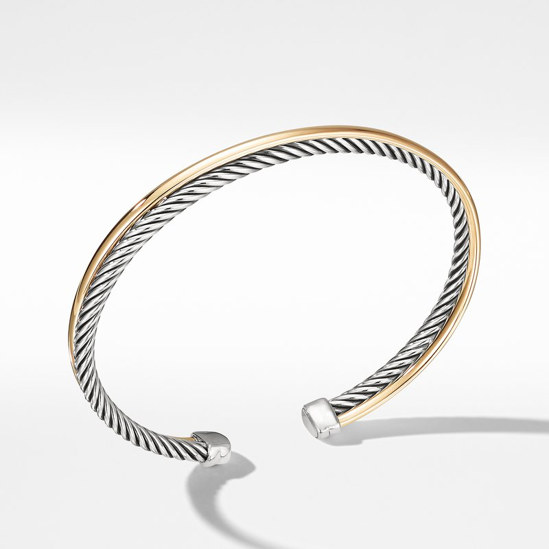 David Yurman Crossover Bracelet with 18K Gold