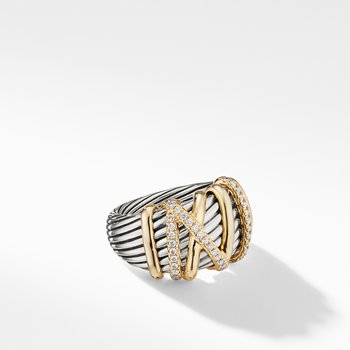 Helena Statement Ring with 18K Gold and Diamonds