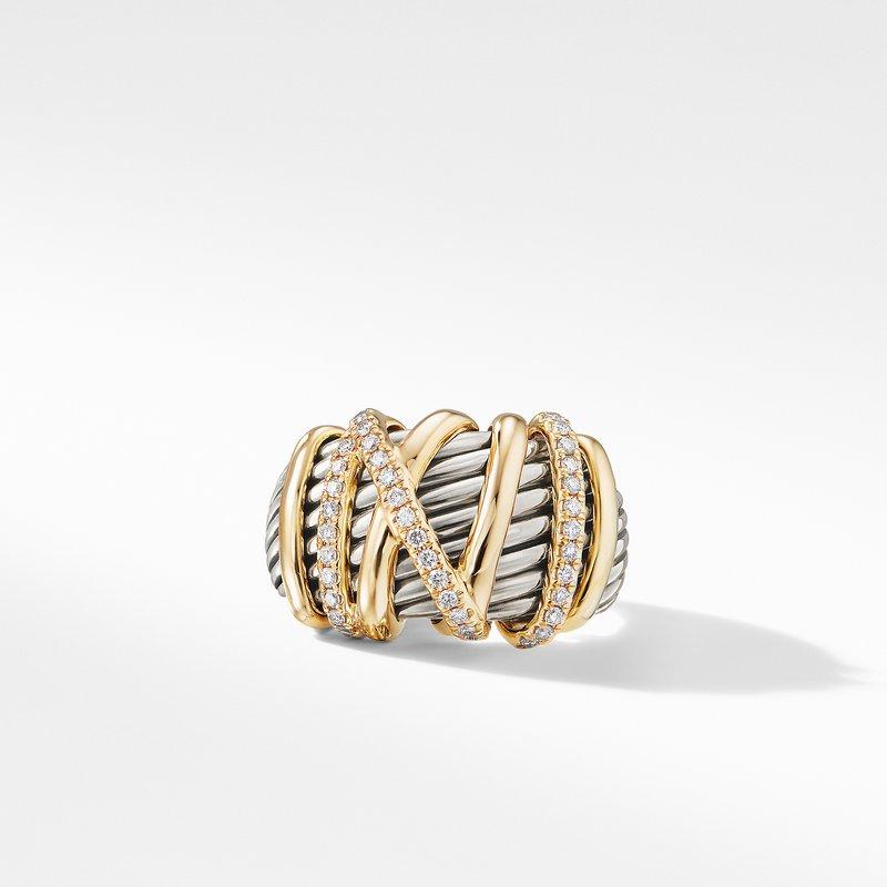 David Yurman Helena Statement Ring with 18K Gold and Diamonds