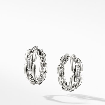Wellesley Hoop Earrings with Diamonds, 23mm