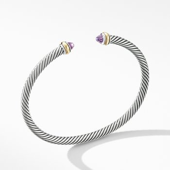 Cable Classic Bracelet with Amethyst and 18K Yellow Gold