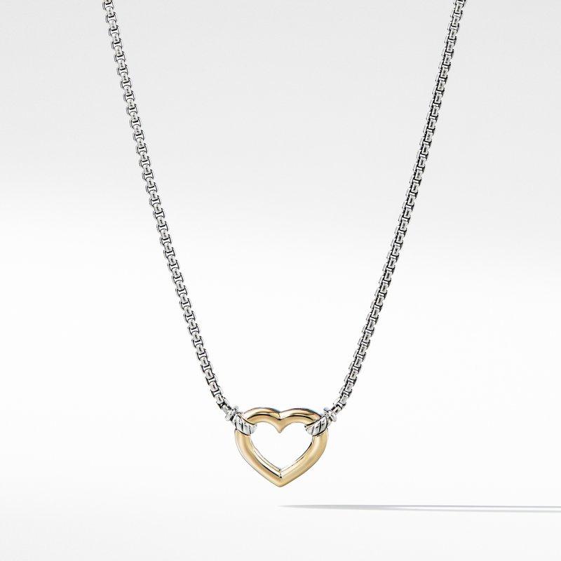 David Yurman Heart Station Necklace with 18K Gold