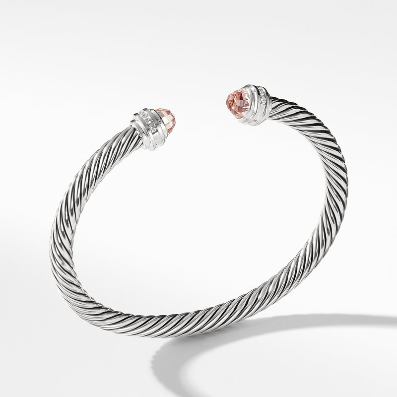 David Yurman Bracelet with Morganite and Diamonds