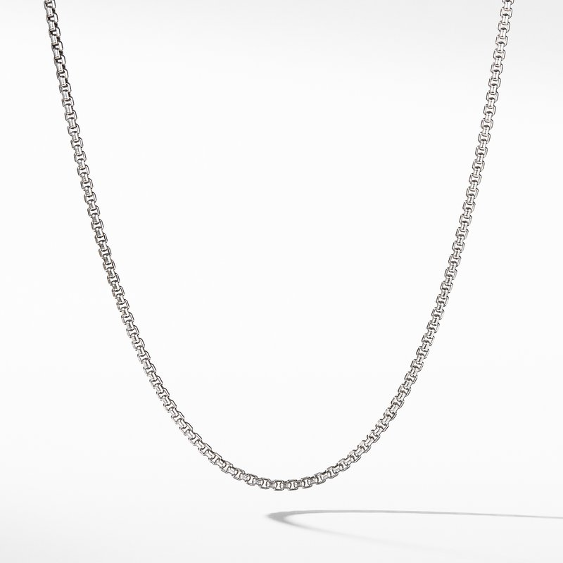 David Yurman Small Box Chain Necklace with Gold