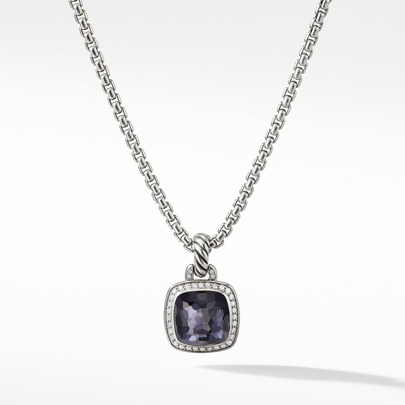 David Yurman Albion® Pendant with Black Orchid and Diamonds