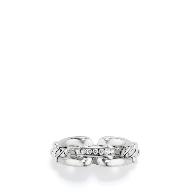 David Yurman Wellesley Link™ Chain Ring with Diamonds