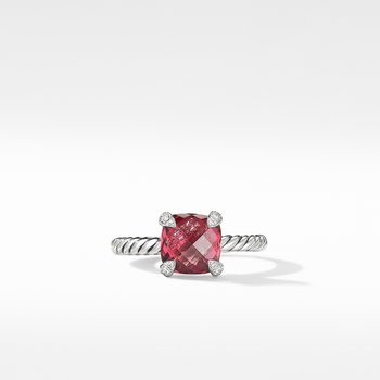 Chatelaine® Ring with Rhodalite Garnet and Diamonds