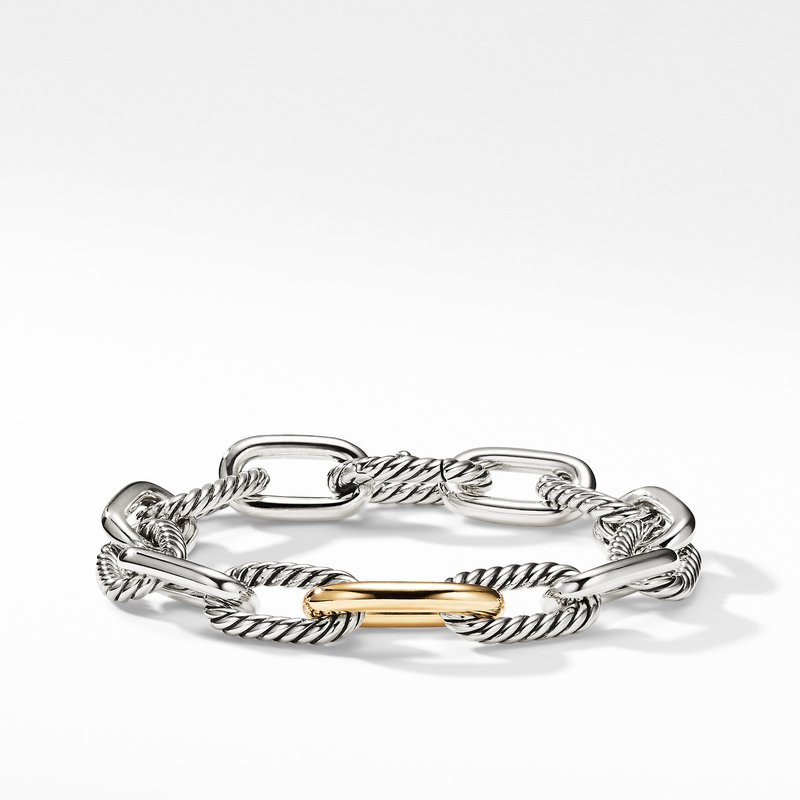 David Yurman DY Madison Medium Bracelet with 18K Gold, 11mm