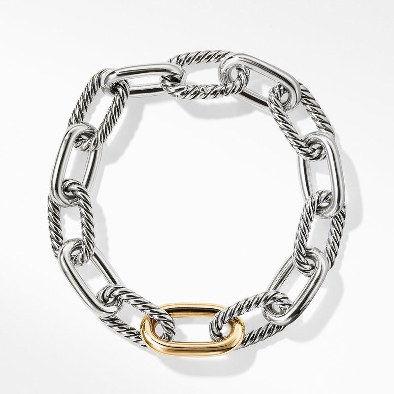 David Yurman DY Madison Medium Bracelet with 18K Gold, 11mm