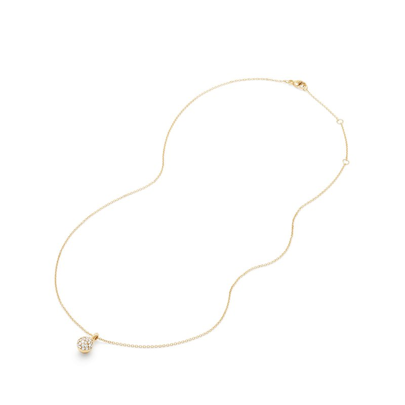 David Yurman Petite Solari Pave Pendant Necklace with Diamonds in 18K Gold