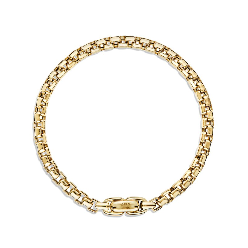 David Yurman Box Chain Bracelet in Gold