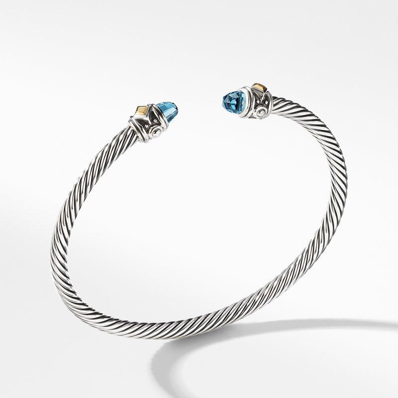 David Yurman Renaissance Bracelet with Blue Topaz and 18K Gold