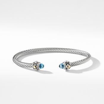 Renaissance Bracelet with Blue Topaz and 18K Gold