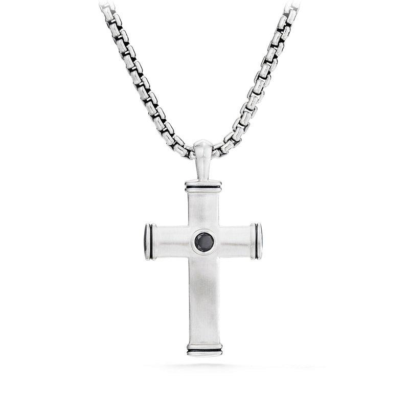 David Yurman Streamline® Cross Tag with Black Diamonds