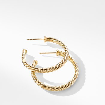 Cablespira Hoop Earrings in 18K Yellow Gold