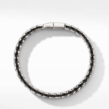 Chevron Woven Bracelet with Black Diamonds