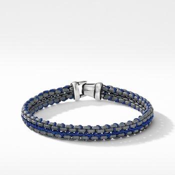 Woven Box Chain Bracelet in Grey