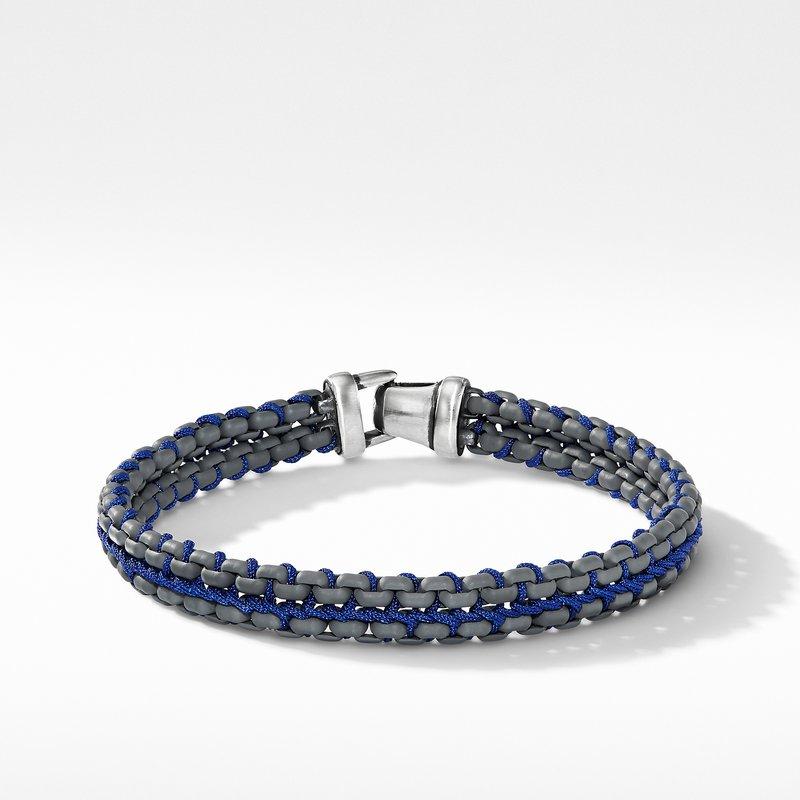 David Yurman Woven Box Chain Bracelet in Grey
