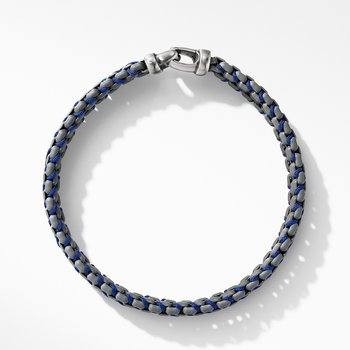 Woven Box Chain Bracelet in Grey
