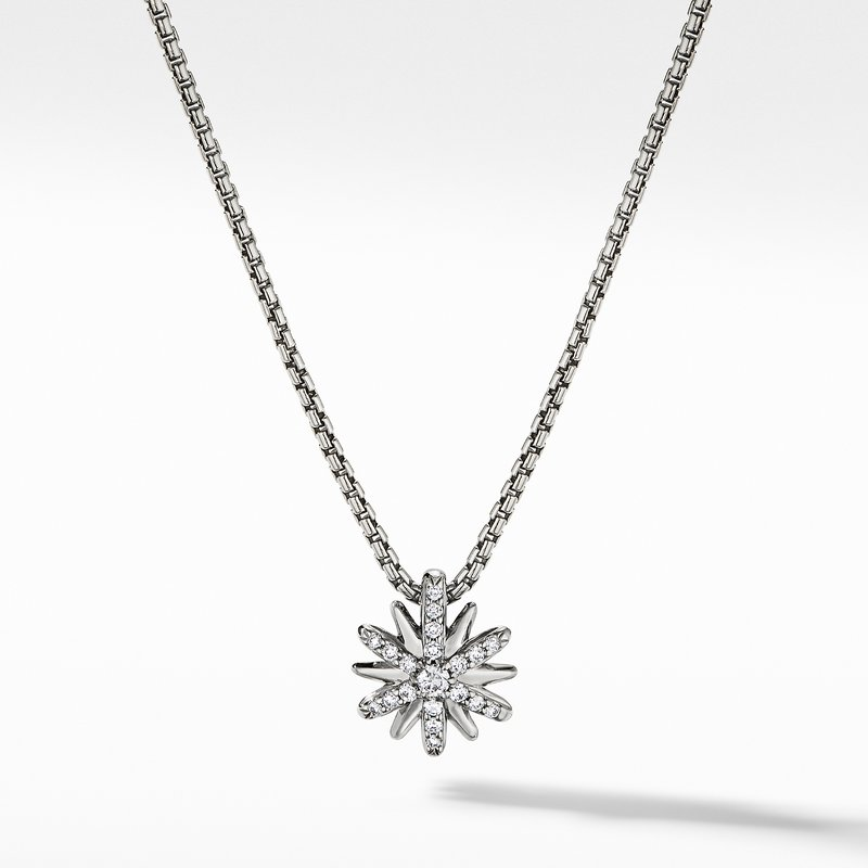 David Yurman Petite Starburst Station Necklace with Diamonds