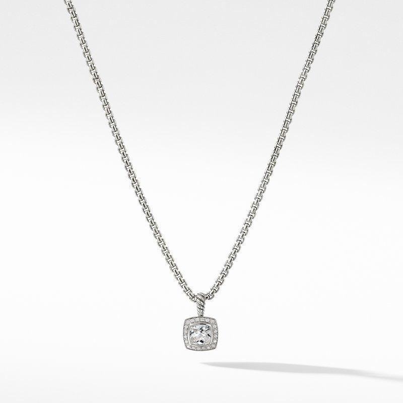 David Yurman Petite Albion® Pendant Necklace with White Topaz and Diamonds