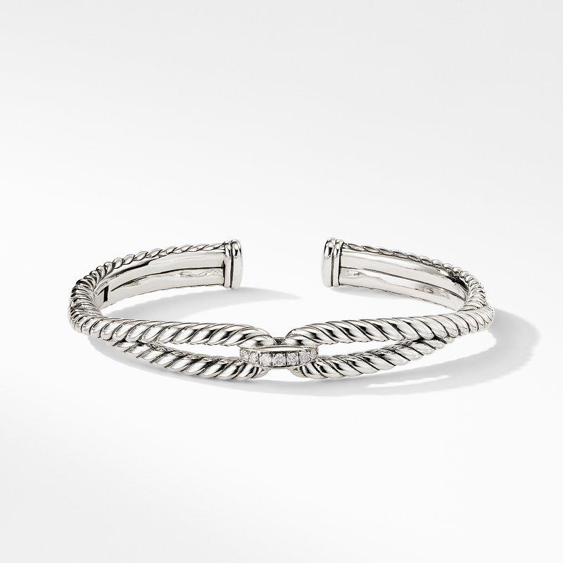 David Yurman Cable Loop Bracelet with Diamonds