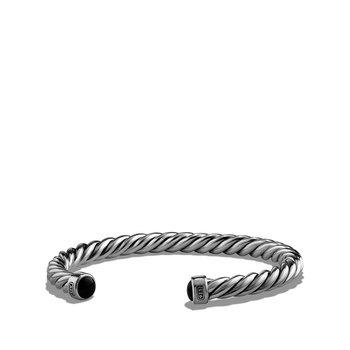 Cuff Bracelet with Black Onyx