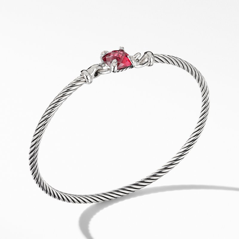 David Yurman Chatelaine® Bracelet with Rhodolite Garnet and Diamonds