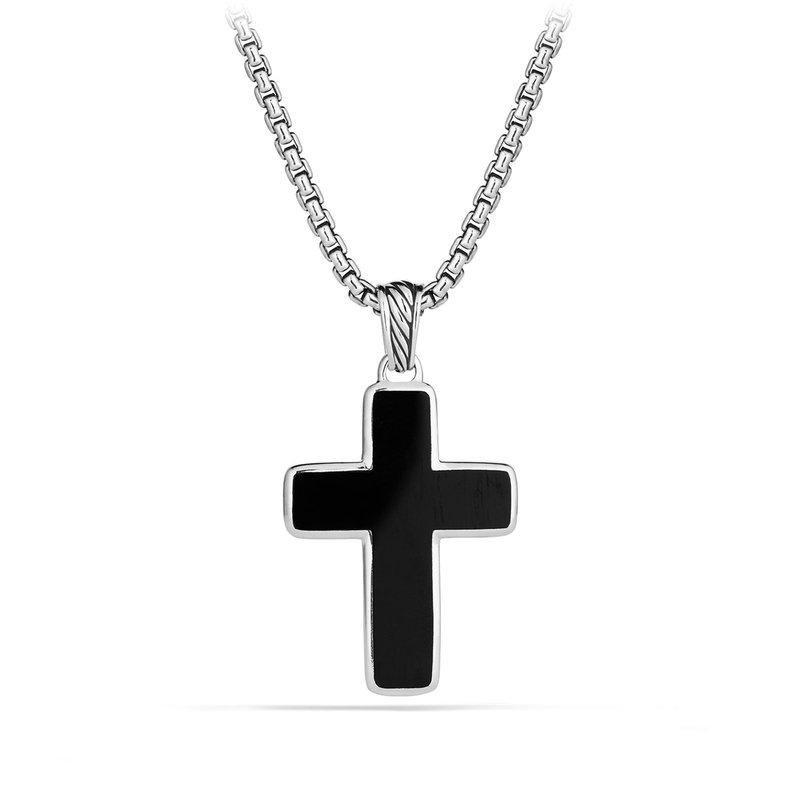 David Yurman Exotic Stone Cross with Black Onyx