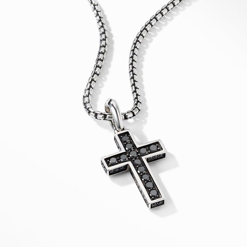 David Yurman Cross Pendant with Pavé Black Diamonds