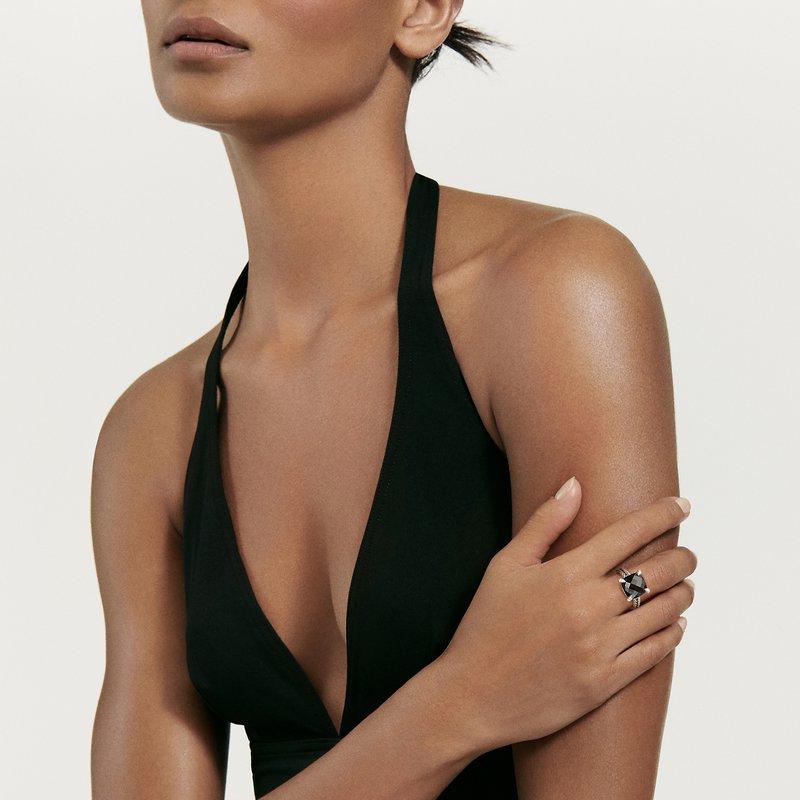 David Yurman Chatelaine® Ring with Black Onyx and Diamonds