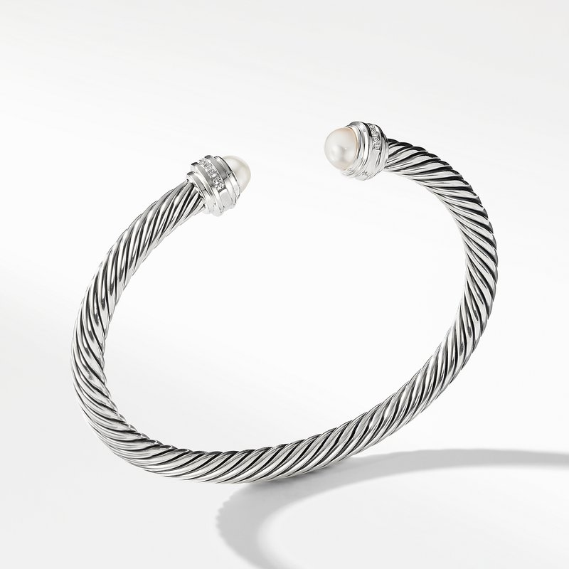 David Yurman Cable Classics Collection® Bracelet with Pearls and Diamonds