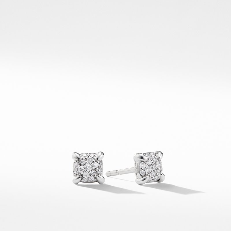 David Yurman Precious Chatelaine™ Stud Earrings with Diamonds in 18K White Gold