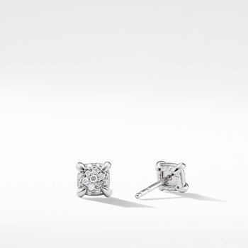Precious Chatelaine™ Stud Earrings with Diamonds in 18K White Gold