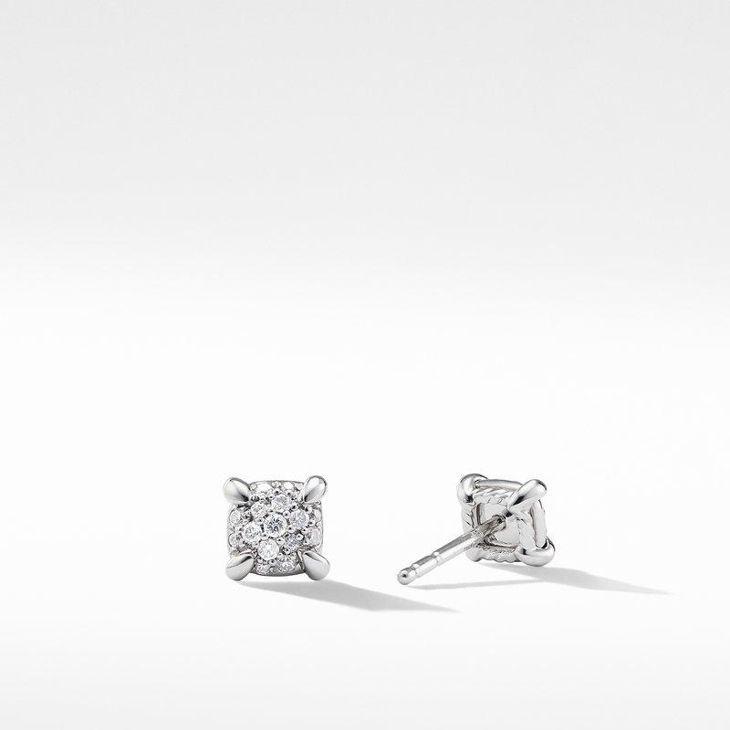 David Yurman Precious Chatelaine™ Stud Earrings with Diamonds in 18K White Gold