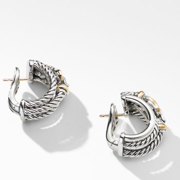 Buckle Shrimp Earrings with 18K Yellow Gold