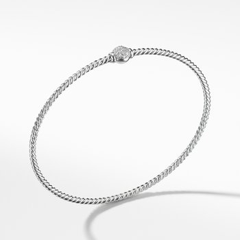 Solari Station Pave Bracelet with Diamonds in 18K Gold