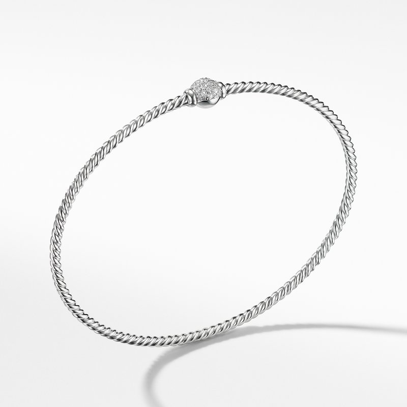 David Yurman Solari Station Pave Bracelet with Diamonds in 18K Gold
