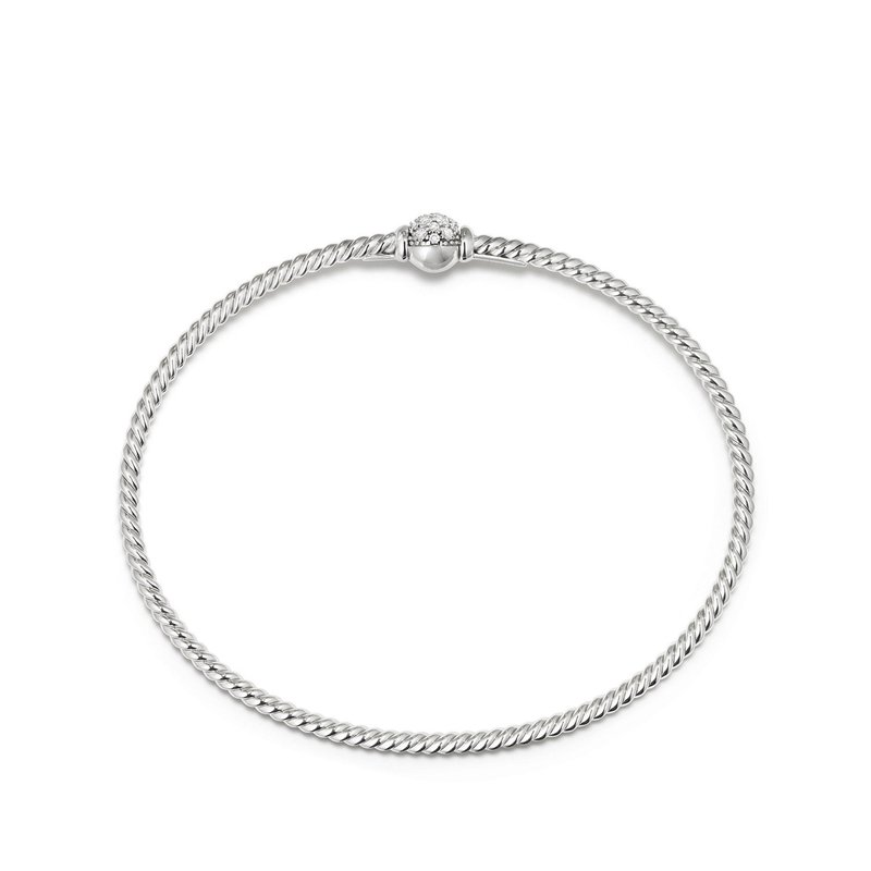 David Yurman Solari Station Pave Bracelet with Diamonds in 18K Gold