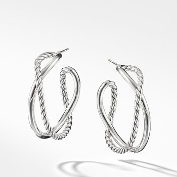 Crossover Hoop Earrings