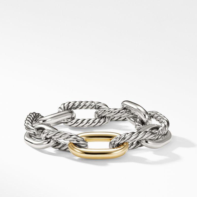 David Yurman DY Madison Large Bracelet with 18K Gold, 13