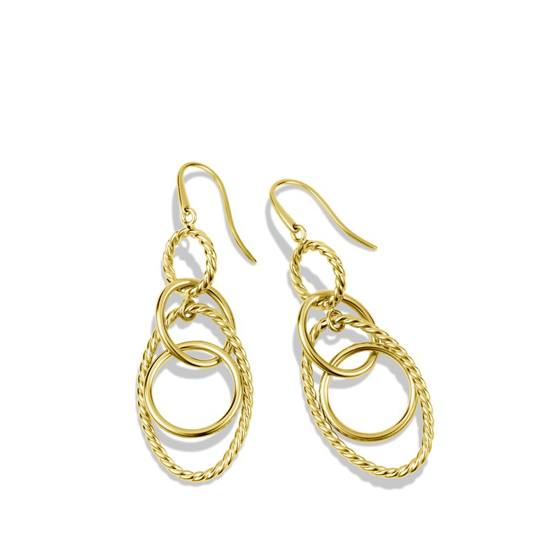 David Yurman Mobile Small Link Earrings in 18K Yellow Gold