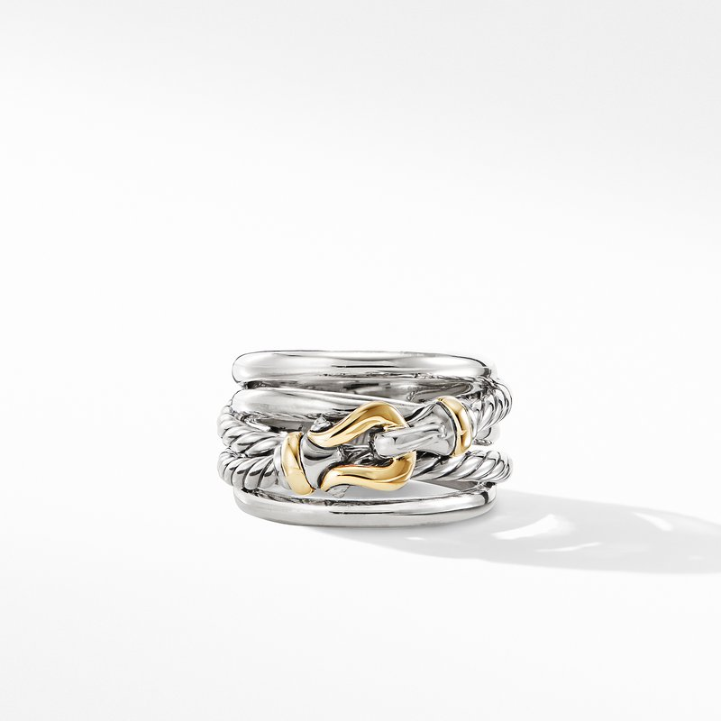 David Yurman Buckle Ring with 18K Yellow Gold