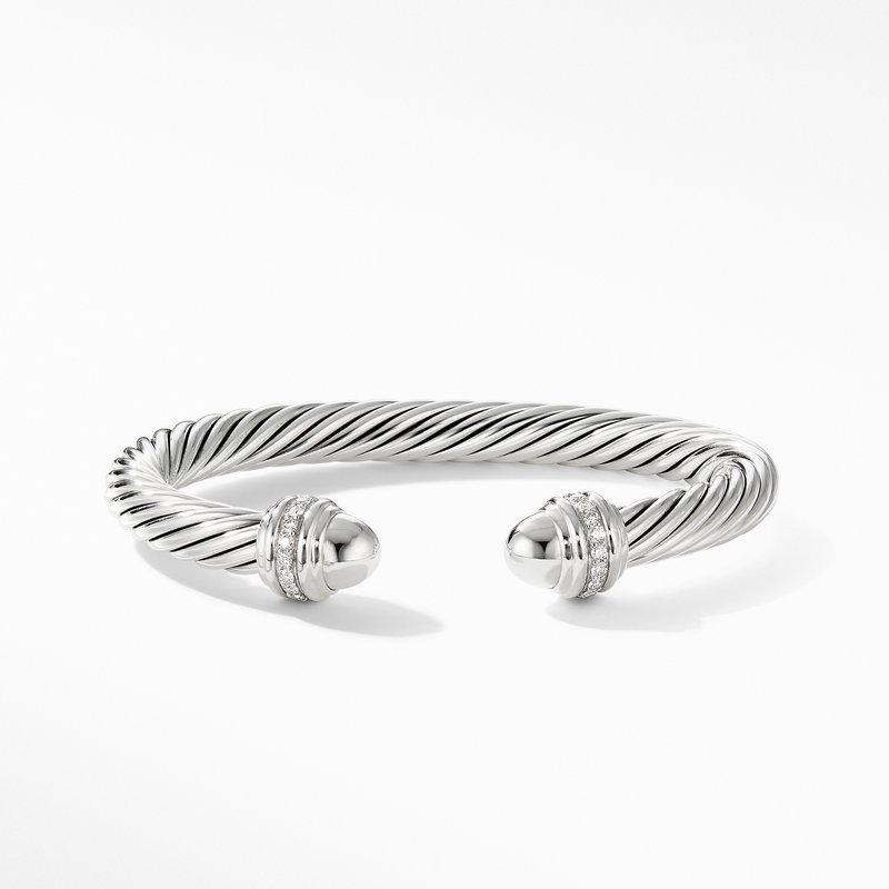 David Yurman Cable Bracelet with Diamonds