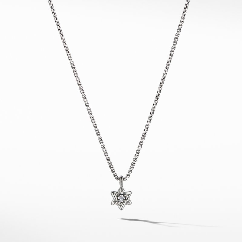 David Yurman Cable Collectibles® Kids Star of David Necklace with Diamonds