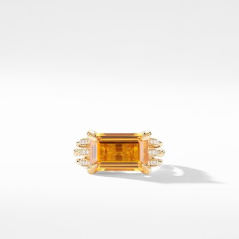 Tides Ring in 18K Yellow Gold with Citrine and Diamonds