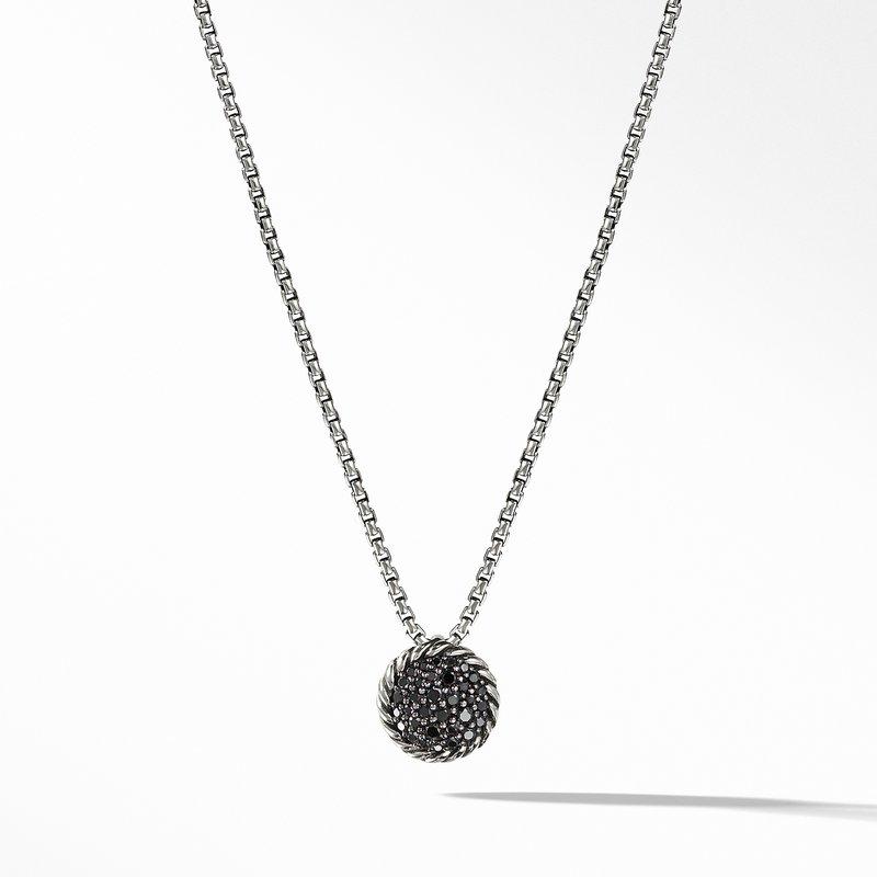 David Yurman Chatelaine Pendant Necklace with Black Diamonds