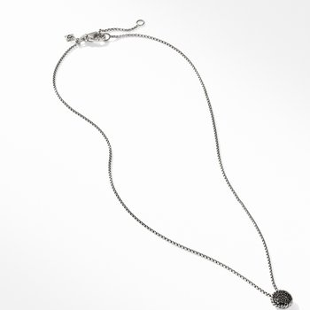 Chatelaine Pendant Necklace with Black Diamonds